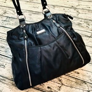 CARTER'S⚡️Black Nylon Large Diaper Tote Bag
